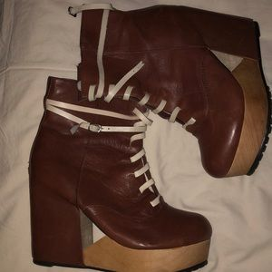 Deena and Ozzy Platform Lace up shoes